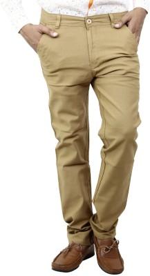 BlueTeazzers Skinny Fit Men's Beige Trousers