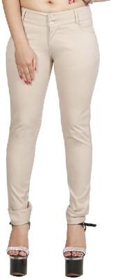 Fellows International Slim Fit Women's Beige Trousers