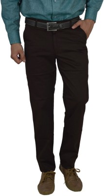 Studio Nexx Slim Fit Mens Brown Trousers