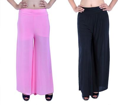 Ajaero Regular Fit Women's Pink, Black Trousers