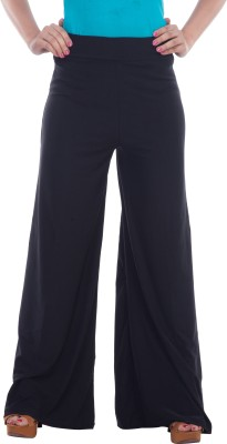 57fb914ee140e Marami Regular Fit Women s Black Trousers Best Price in India ...