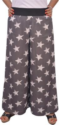 Saree Sparkle Regular Fit Women's Grey, White Trousers