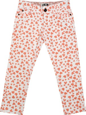 Addyvero Slim Fit Girl's Orange Trousers