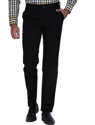 Planet-X Regular Fit Men's Black Trousers