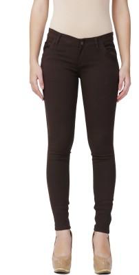 City Girl Regular Fit Women's Brown Trousers