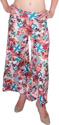 DAMEN MODE Regular Fit Women's Multicolor Trousers