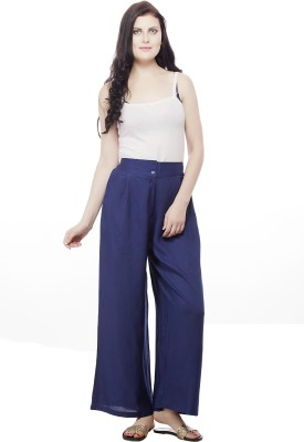Pistaa Regular Fit Women's Dark Blue Trousers