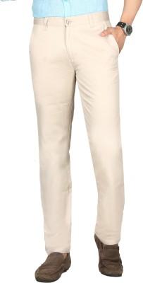 Sloper Regular Fit Men's White Trousers
