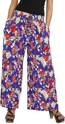 Sringar Regular Fit Women's Blue Trousers