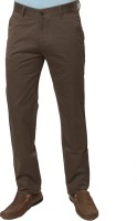 Klix Regular Fit Mens Brown Trousers