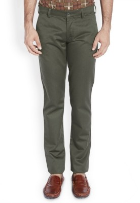 ColorPlus Slim Fit Men's Dark Green Trousers