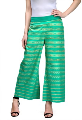 Natty India Regular Fit Women's Green Trousers