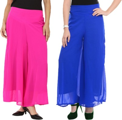 Komal Trading Co Regular Fit Women's Pink, Blue Trousers