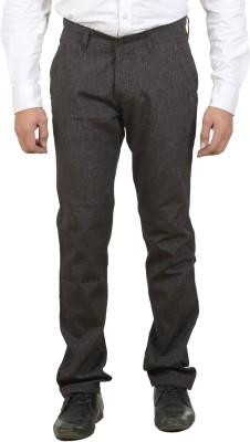 Ethzone Regular Fit Men's Brown Trousers