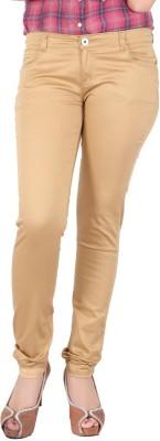 FCK-3 Slim Fit Women's Gold Trousers