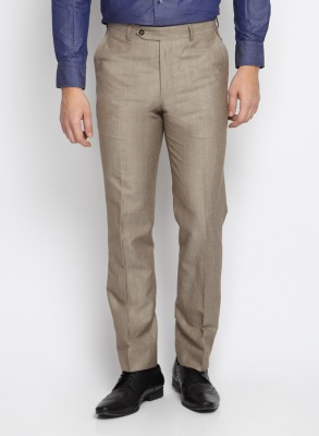 SUITLTD Slim Fit Men's Brown Trousers