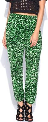 Noble Faith Regular Fit Women's Green Trousers