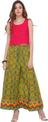 We Desi Regular Fit Women's Multicolor Trousers