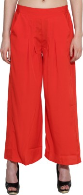 Aurelia Regular Fit Women's Orange Trousers