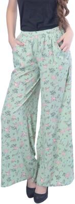 Trendy Divva Regular Fit Women's Green Trousers