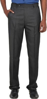 Warp & Weft Slim Fit Men's Grey Trousers