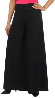Rigoglioso Regular Fit Women's Black Trousers