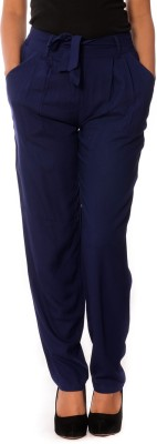 House of Tantrums Regular Fit Women,s Dark Blue Trousers