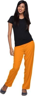 Go Colors Regular Fit Women's Orange Trousers