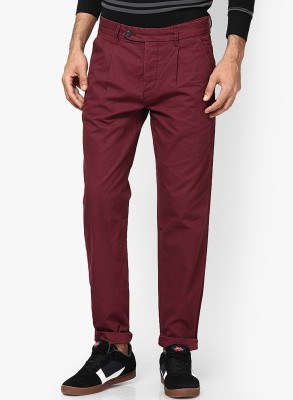 Jack & Jones Regular Fit Men's Red Trousers