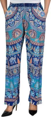 Jhoomar Regular Fit Women's Blue Trousers