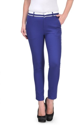 XnY Slim Fit Women's Blue Trousers