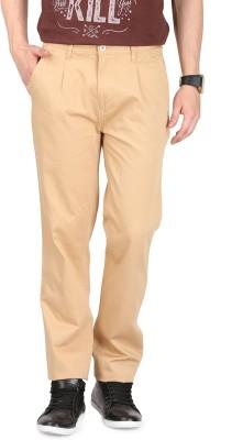 FR Regular Fit Men's Cream Trousers