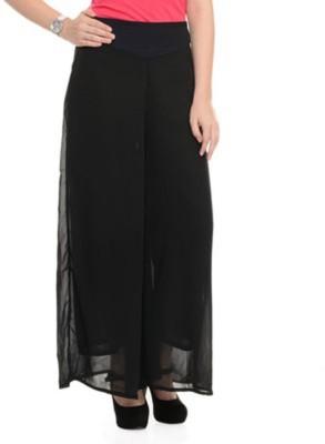 BuyNewTrend Slim Fit Women's Black Trousers