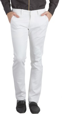 Bloos Jeans Slim Fit Men's White Trousers