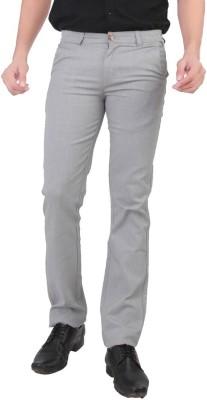 Wood Slim Fit Men's Grey Trousers