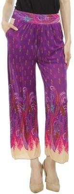 Camey Regular Fit Women's Purple Trousers
