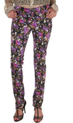 Fashion Cult Slim Fit Women,s Multicolor Trousers