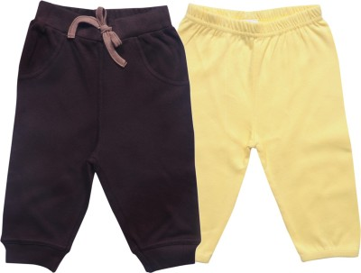 Bio Kid Regular Fit Baby Boy's Yellow, Brown Trousers