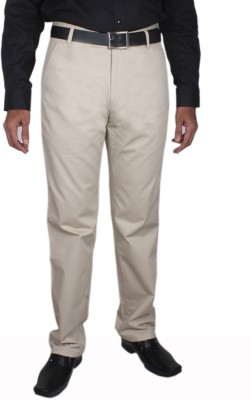 Planet-X Regular Fit Men's Cream Trousers