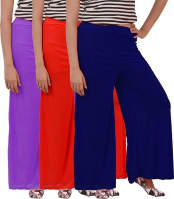 Ace Regular Fit Women's Red, Purple, Blue Trousers