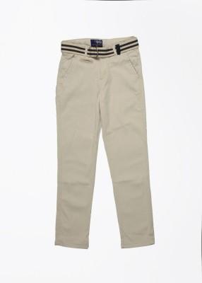 Gini & Jony Regular Fit Boy's Brown Trousers