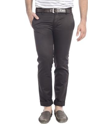 Blimey Slim Fit Men's Brown Trousers