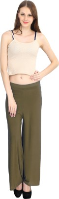 ELVIN Regular Fit Women's Brown Trousers