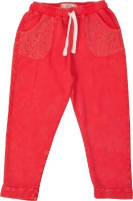 NOQNOQ Regular Fit Girl's Red Trousers