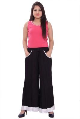 Razio Regular Fit Women's Black Trousers