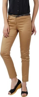 F Fashion Stylus Slim Fit Women,s Beige Trousers
