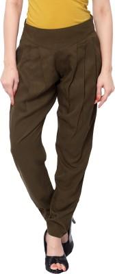 SFDS Regular Fit Women's Dark Green Trousers