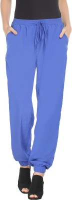 Young & Free Regular Fit Women's Blue Trousers