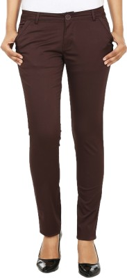 Ur Sense Regular Fit Women's Brown Trousers