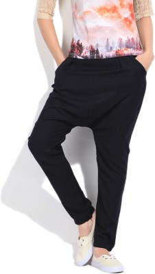 Flying Machine Slim Fit Women's Black Trousers